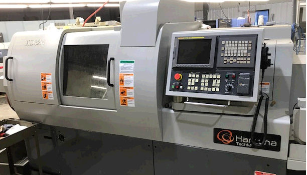 1 1/4 , HANWHA, No. XD-32 H, Fanuc, Max Machining length 12.6 ,200-8000RPM,Back spindle 200- 7000RPM, MTA Eagle 551-6 Bar Loader,2008