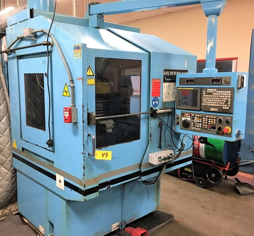 No. HS 205, Huffman, 5 Axis Profile grinder,GE Fanuc 160i-m,6 wheel,wheel head 10HP 6000RPM,Table Rpm 1-150 12 Long,cross & vert travels,'07